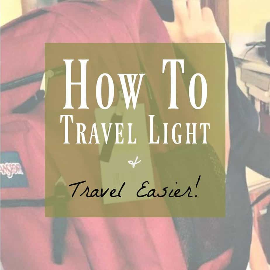 Backpack Travel is easy traveling