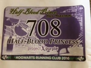 harry potter virtual run race bib