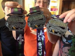 Harry Potter Virtual Run medals