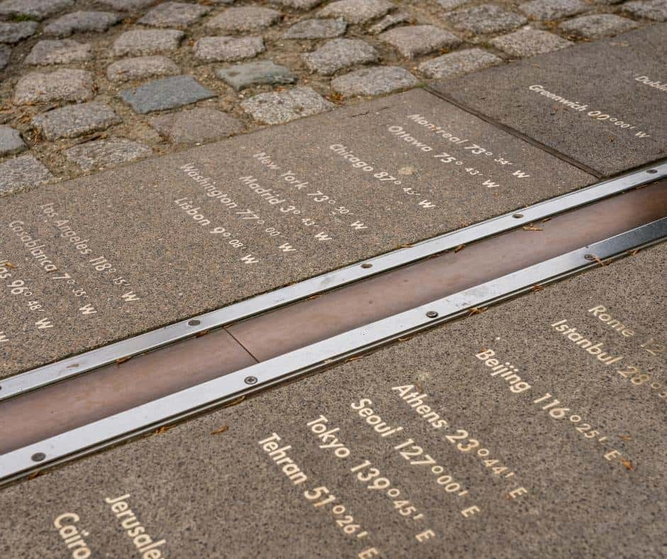Prime Meridian Line Greenwich Village London