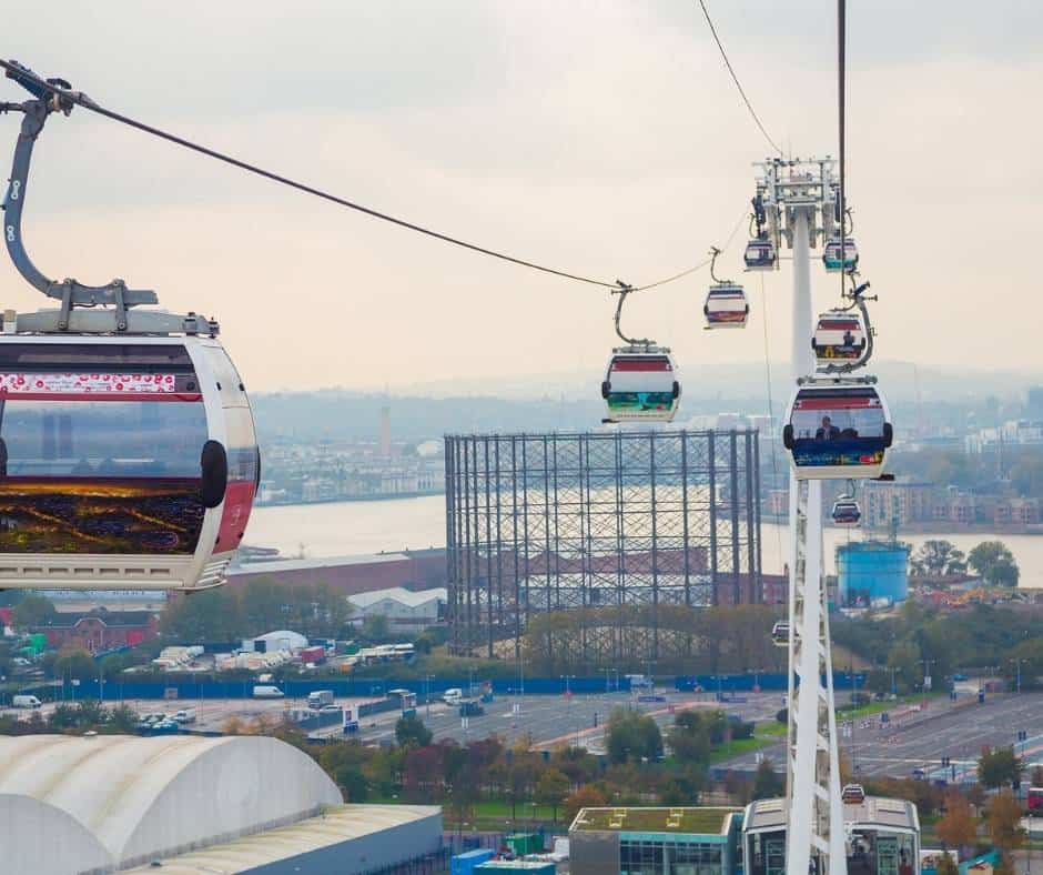 Emirates Air Line Cable Cars, Greenwich Village London