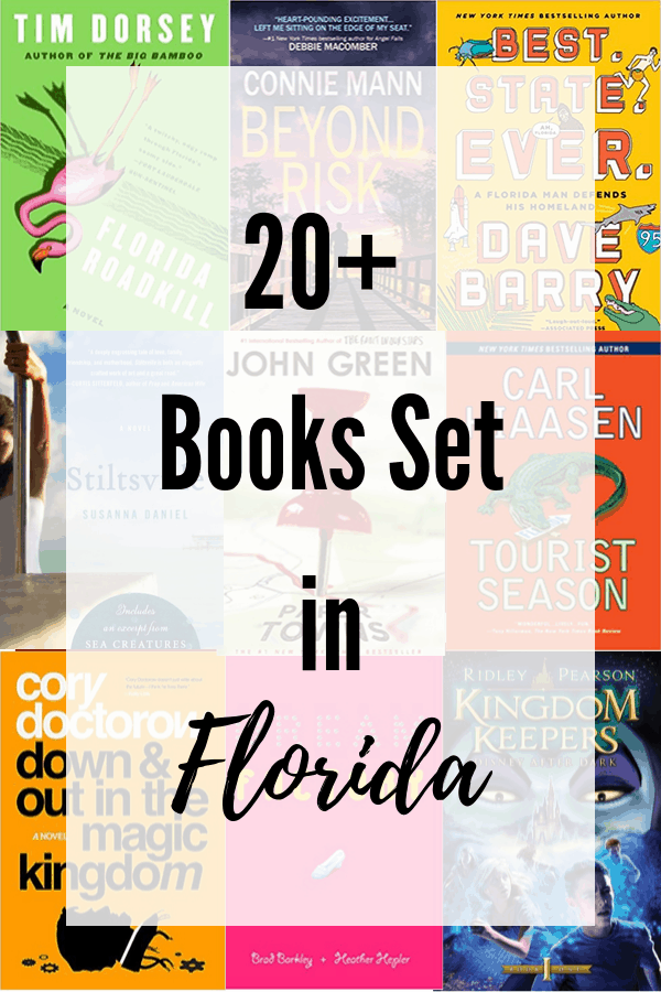 book covers of 9 books set in Florida