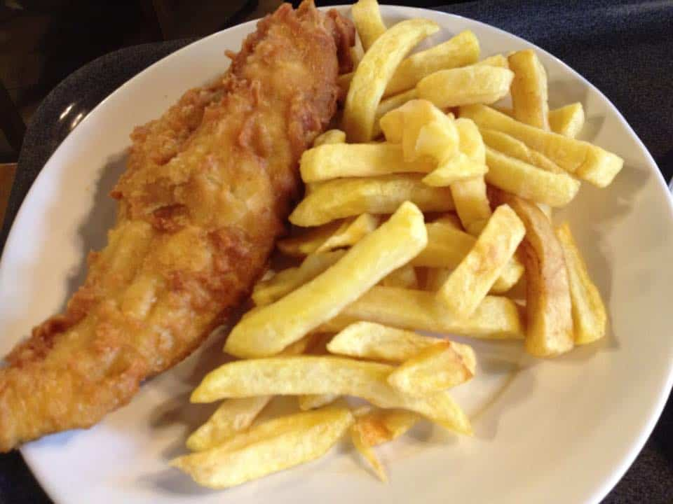 fish and chips in Greenwich Village London