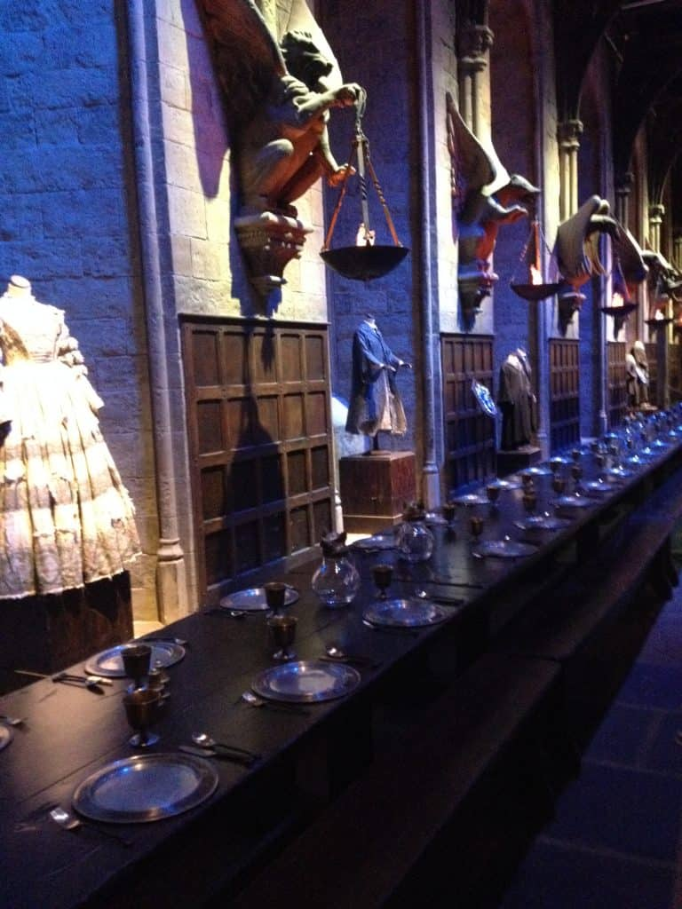 Great Hall Hogwarts during our Making of Harry Potter Tour