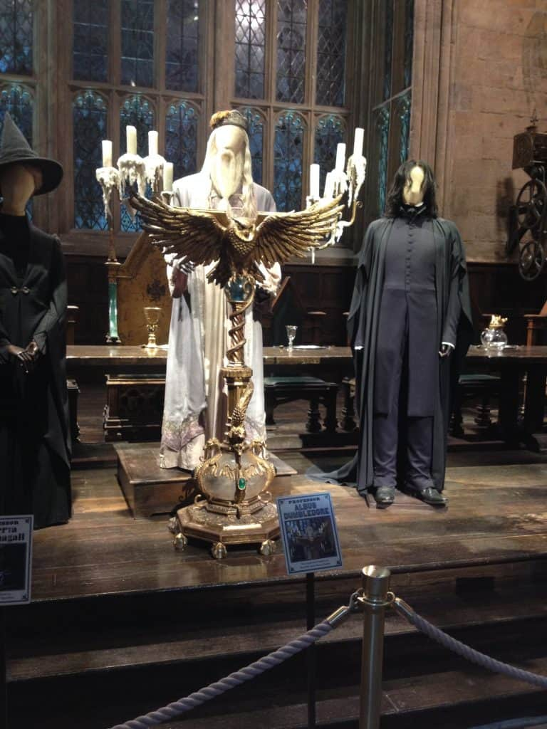 Costumes for Dumbledore and Snape on the Warner Bros Tour in London