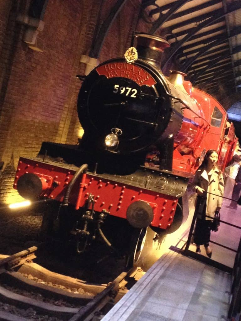 Hogwarts Express at the Making of Harry Potter tour