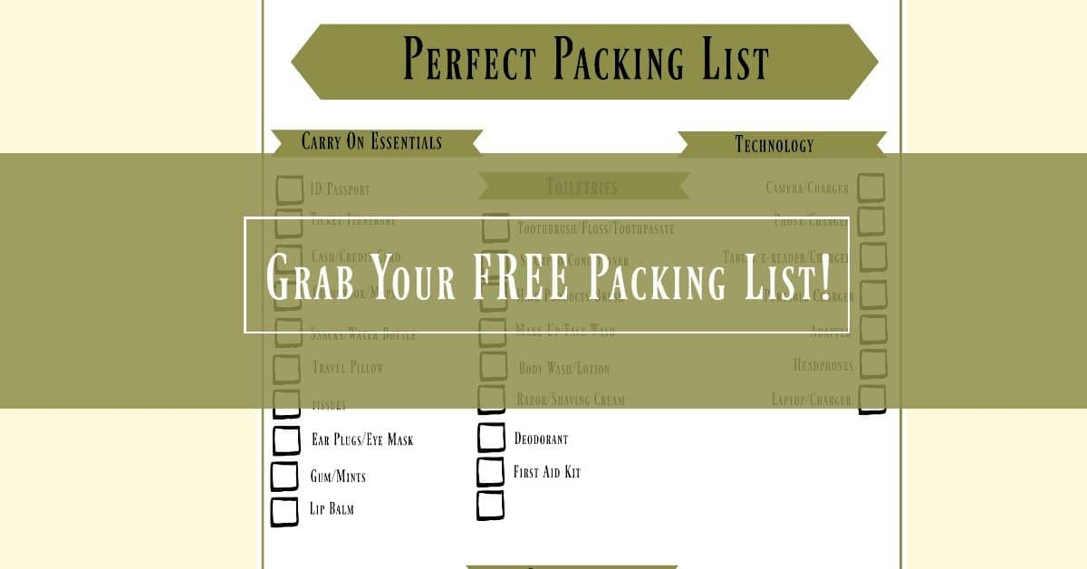 Free packing list