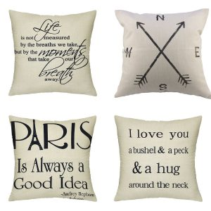 Decorative Travel themed pillows