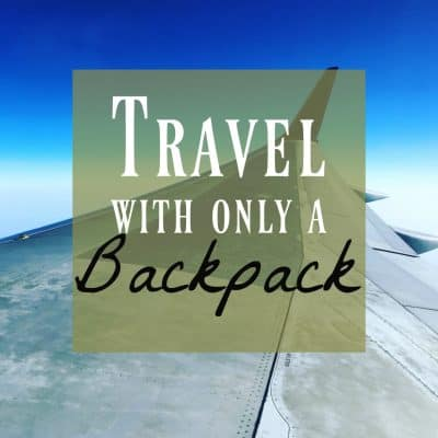 Travel Lite – How to Pack Your Backpack for a Weekend Wedding