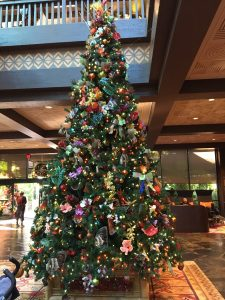 Christmas tree at the Polynesian