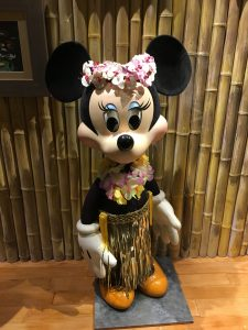 Luau Minnie at the Polynesian