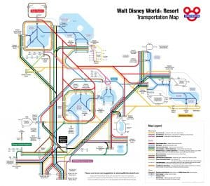 Disney Transportation Map