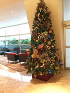 the main Christmas tree in the Contemporary hotel