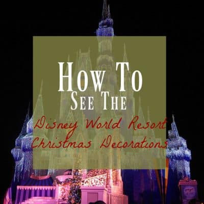 How to see Disney World Christmas Decorations (on a Budget)