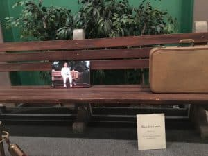 bench from Forrest Gump in Savannah History Museum