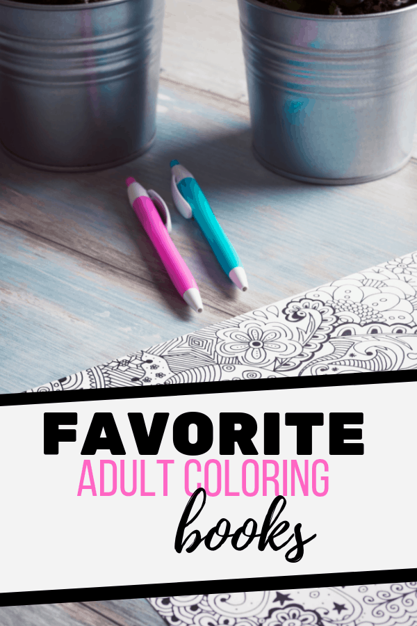 pink and blue pens on adult coloring page; cool coloring books