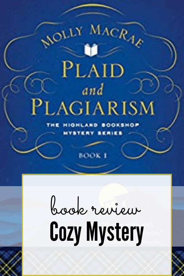 Plaid and Plagiarism book cover; cozy mystery