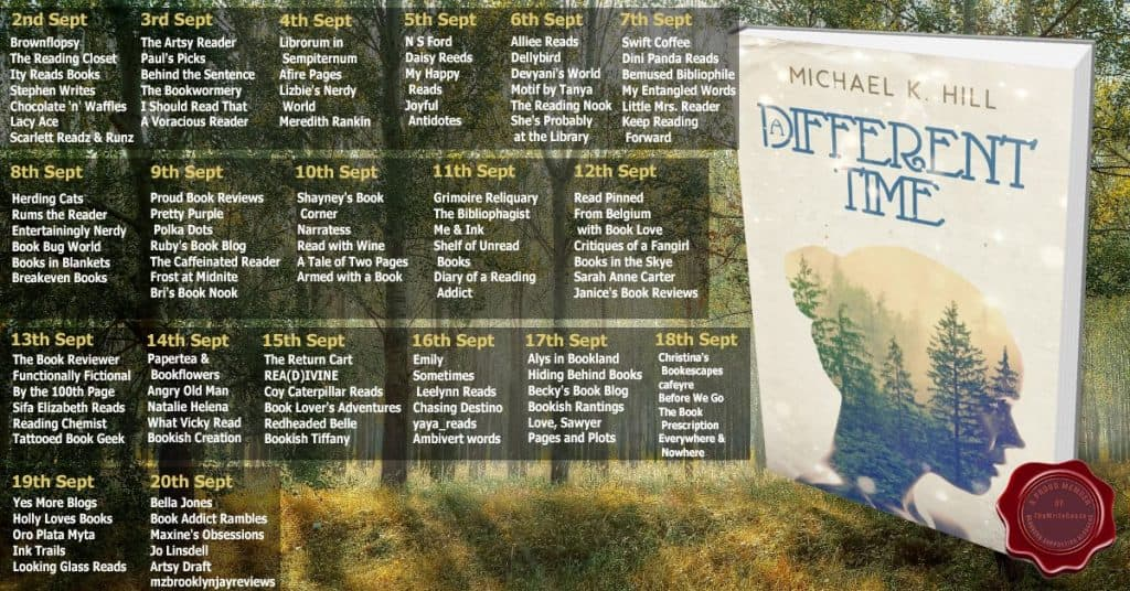 book blog tour schedule for A Different Time