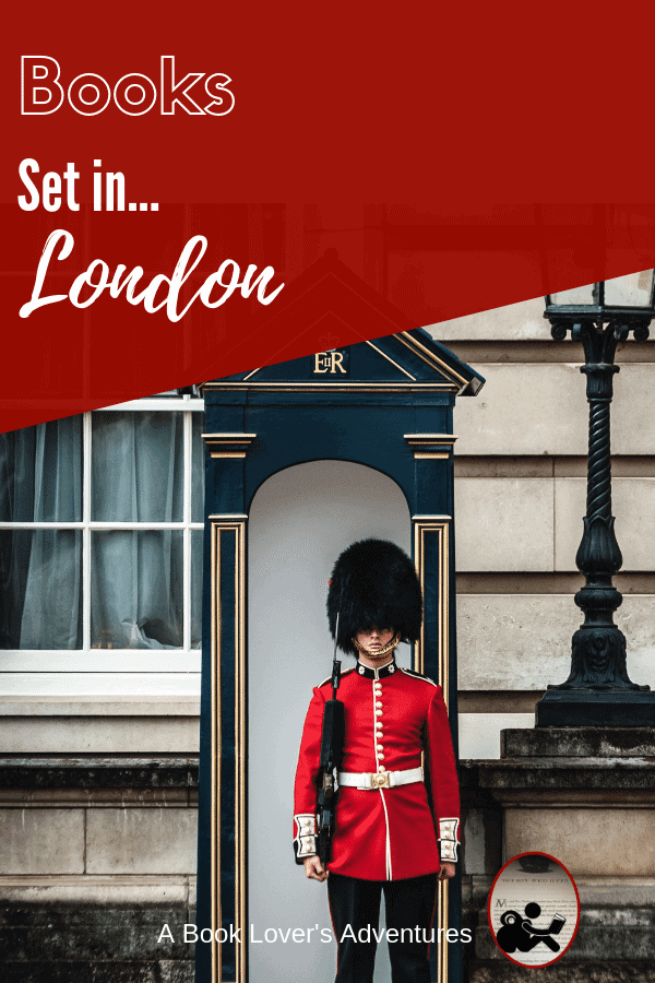 Royal Guard standing at attention with workding books set in London