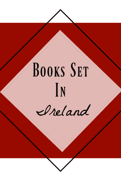 red background black text: Books set in Ireland