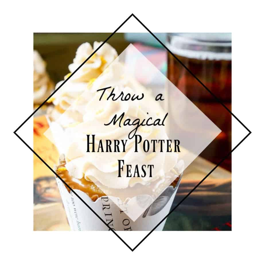 image of a butterbeer cupcake for your next Harry Potter feast