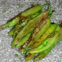 Blistered Shishito Peppers - Low Carb, Keto, Vegan