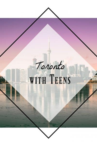 Skyline of Toronto at dusk, lots of fun things to do in Toronto with Teens