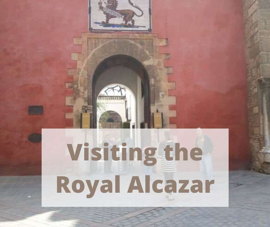 Red outer wall to the Royal Alcazar in Seville