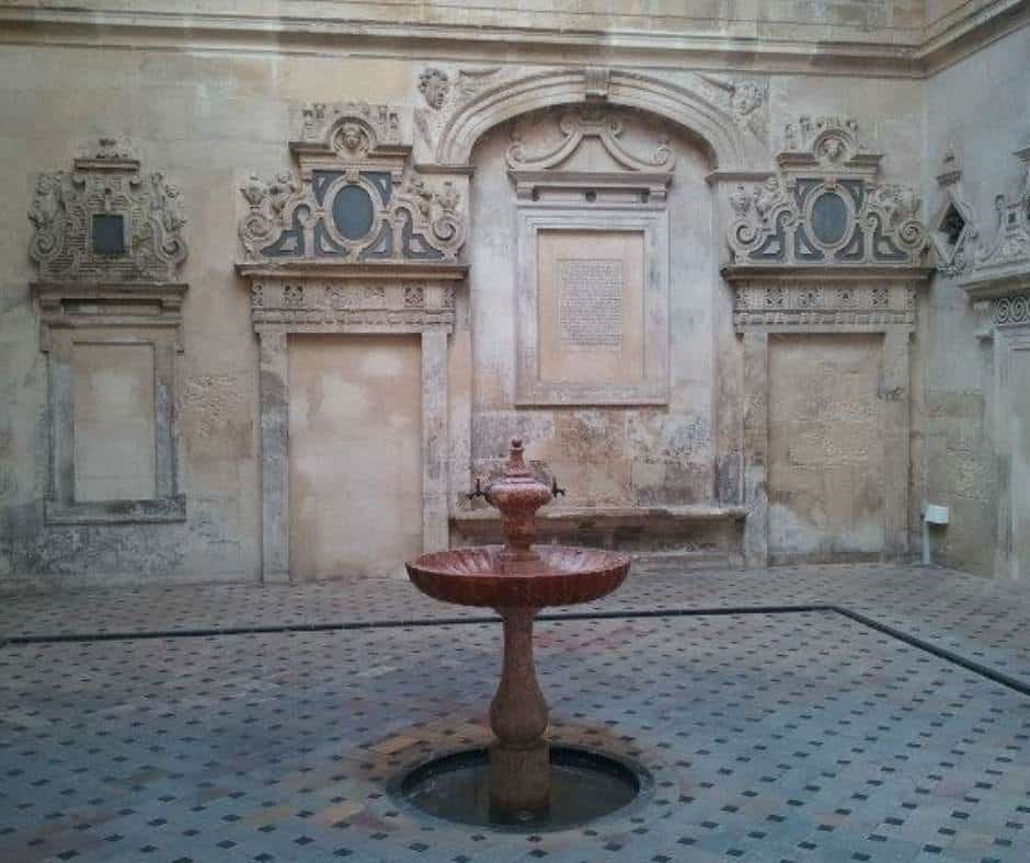 A fountain in the gardens of the Royal Alcazar in Seville