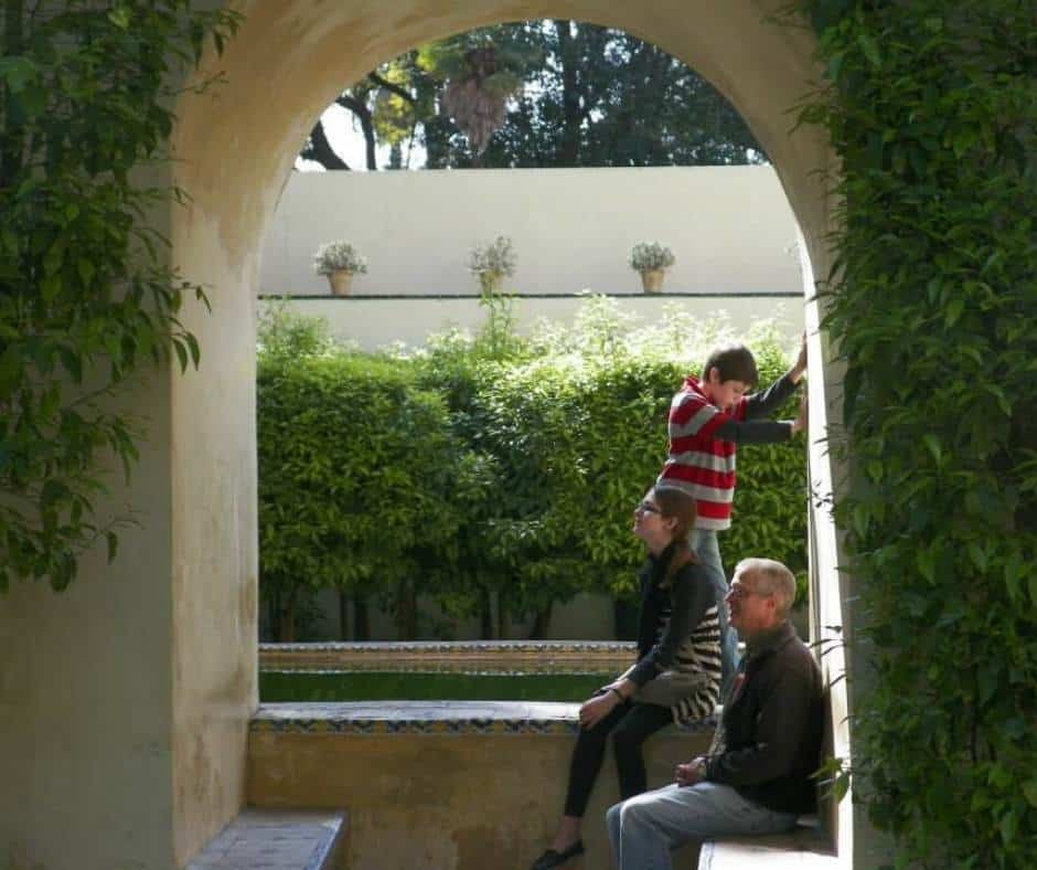 Resting in the gardens of the Royal Alcazar in Seville