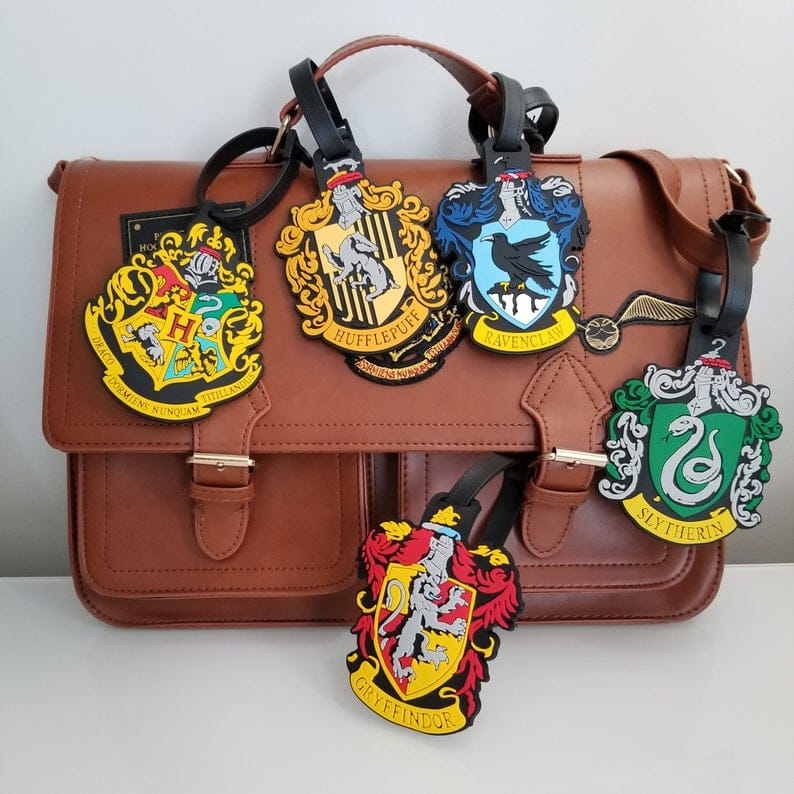 Harry Potter products - hogwarts house luggage tags