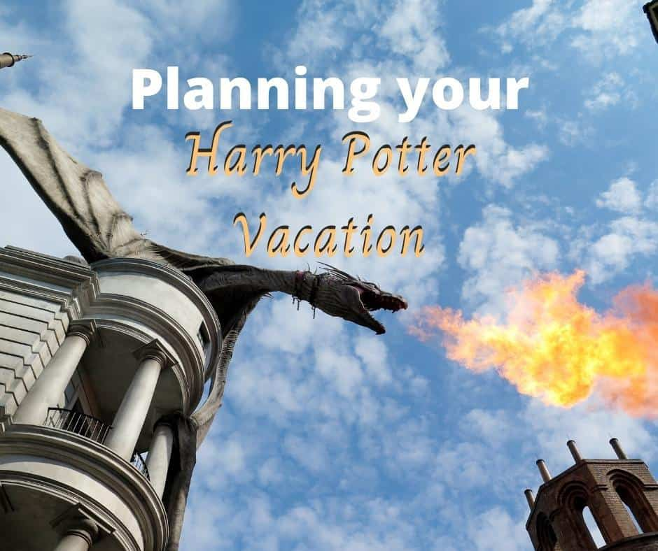 Planning your Harry Potter Vacation in the US might include the Wizarding World in Orlando Florida