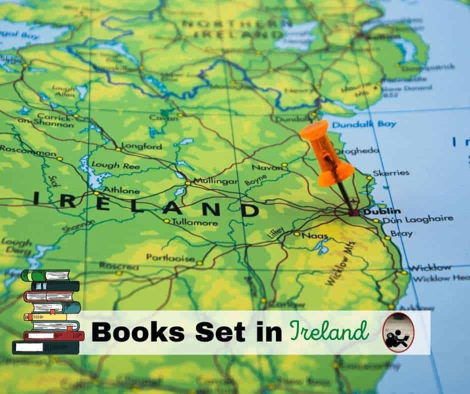 map of Ireland with words Books Set in Ireland