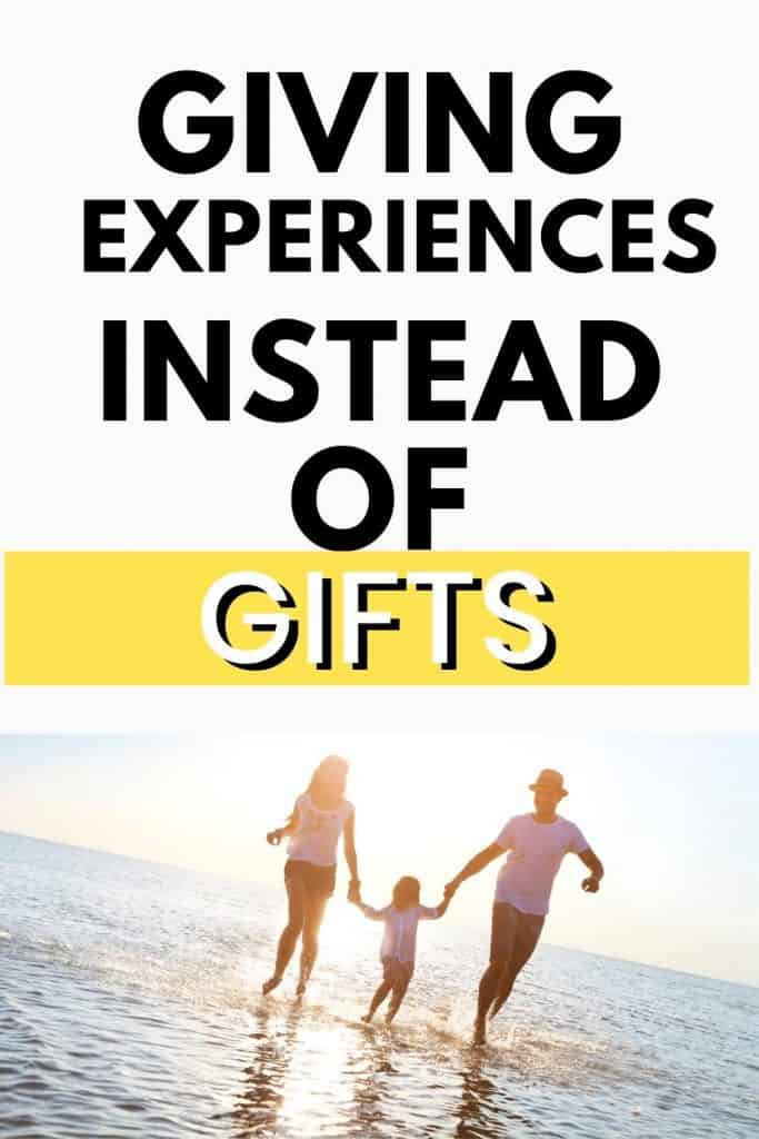 Try giving an experience instead of a gift. Go have fun and create some amazing experiences.