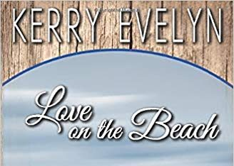 book cover for Love on the Beach, couple standing on beach embracing, smiling