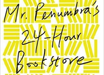yellow book cover for Mr. Penumbra